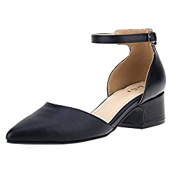 Zriey Women S Classic Sexy Low Heel Pumps Fashion Comfort Shoes Black Size 8