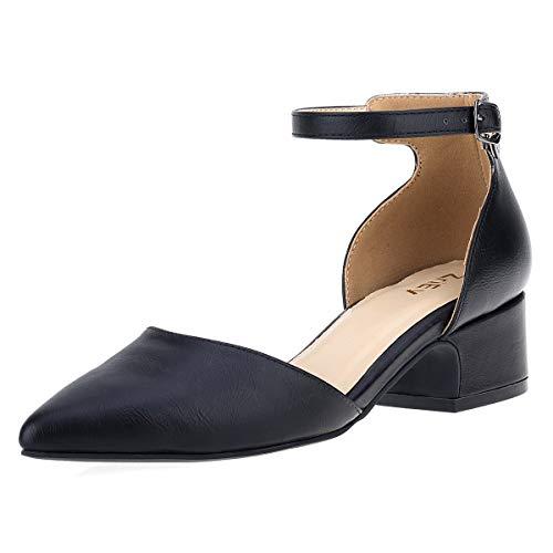 ZriEy Women's Classic Sexy Low Heel Pumps Fashion Comfort Shoes Black Size ()