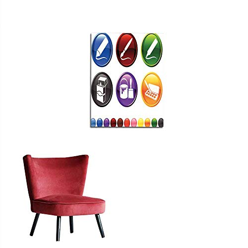 longbuyer Wall Sticker Decals Art Supplies Royalty Free Vector icon Set Mural - Royalty Free Icons