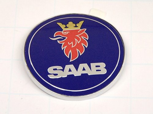 - Saab 9-3 CONVERTIBLE Trunk Emblem GENUINE factory part (REAL Embem - not a sticker)