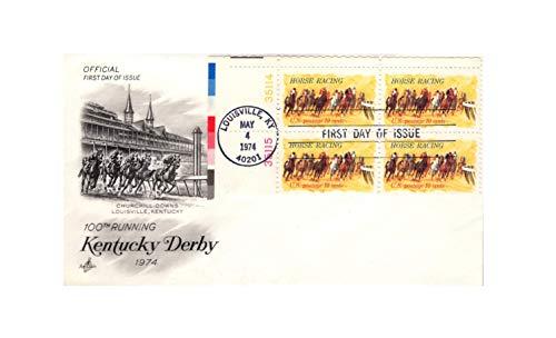 FDC #1528 Horse Racing Churchill Downs 100th Kentucky Derby 1974 {ArtCraft}