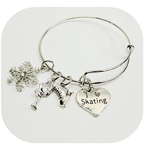 XMNDS Ballet Shoes Charm Bracelet- Dance Bracelet- Girls Dance Jewelry For Dance Recitals ()