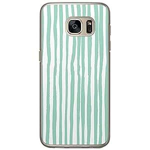 Loud Universe Samsung Galaxy S7 Confetti Pattern Printed Transparent Edge Case - Green/White