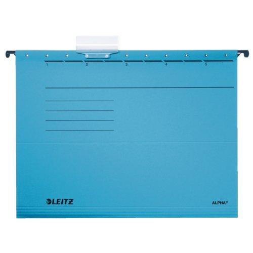 Leitz 19853035 Hängemappe Alpha , Colorspankarton, 5 Stück, blau