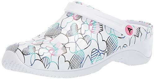 Anywear Women's Zone Health Care Professional Shoe, Stripe in Petal, 6 Medium US ()