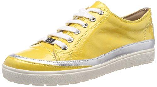 Amarillo 611 Derby Mujer Mud Yellow Caprice Zapatos Napl para de Cordones 23654 7wxPq0FI