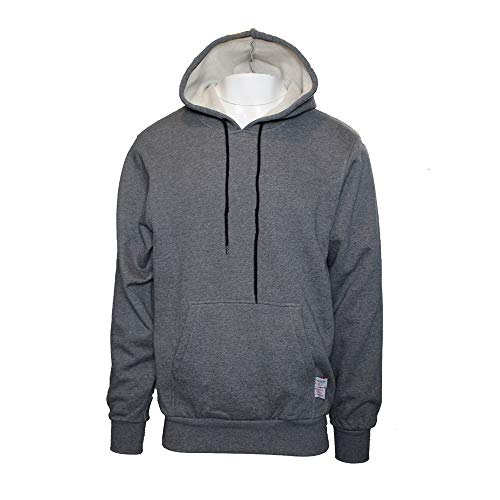 (Oil and Gas Safety Supply Men's Flame Resistant Pull Over Hooded Sweatshirt Gray (X-Large) )