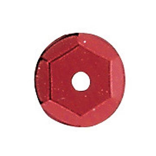 KnorrPrandell Gütermann 6232159 - Paillettes, 6 mm, confezione da 500, colore: Rosso 216232159