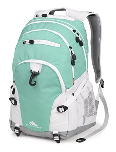 High Sierra Loop Backpack, Aquamarine/White/Ash
