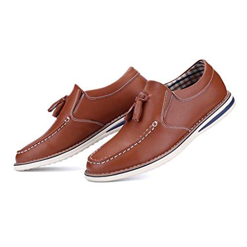 Unbekannt - Chaussures À Lacets En Cuir Pour Homme Brun Brun, Brun, Taille 42 Eu
