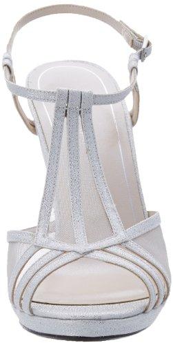 Caparros Women's Lucky Platform Sandal Silver Glitter NXxyt