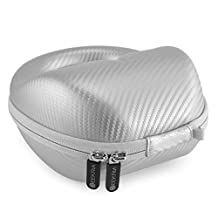 Geekria UltraShell Headphones Case for Plantronics BackBeat PRO, PRO+, PRO 2, Wireless Noise Canceling Headphones / Hard Shell Carrying Case / Headset Protective Travel Bag (Silver)