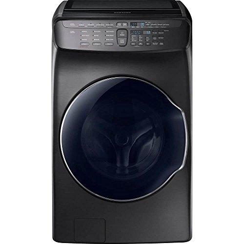 Samsung 5.5 Cu. Ft. Black Stainless Steel FlexWash Washer (Samsung 5-6 Cu Ft Front Load Washer)