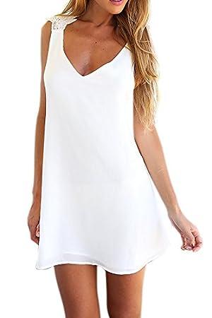Vestidos blancos cortos amazon