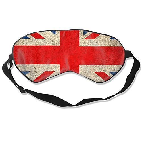 (GRFER Old and Worn Distressed Vintage Union Jack Flag Best Sleep Mask Travel, Nap, Adjustable Belt Eye Mask for Men and Women)
