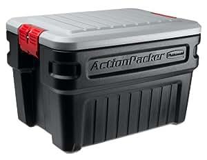 Rubbermaid 1172 ActionPacker Storage Box, 24 Gallon