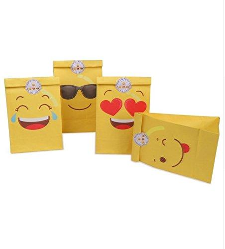 12 unids Bolsas Emoticonos con Pegatinas para invitad@s ...