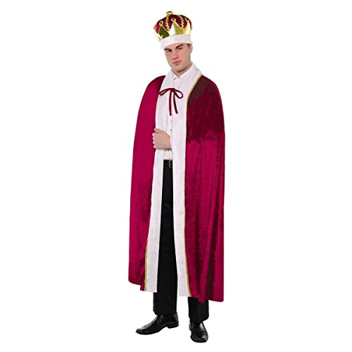 King Size Halloween Costumes (AMSCAN King Robe Halloween Costume for Men, One)