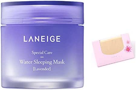 Laneige Water Sleeping Mask Pack LAVENDER 70ml + SoltreeBundle Natural Hemp Paper 50pcs