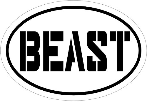 "BEAST Decal - Black Vinyl ""Beast""sticker - Truck Window Car Bumper Sticker - Beast Sticker Perfect Fitness Inspirational Gift, Made in the USA"