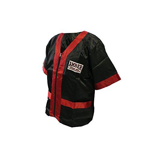 Amber Fight Gear Cornermens Jacket black W/Red Outline Black/Red, Medium by Amber Fight Gear