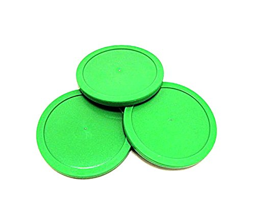 Game Room Guys Set of 3-3-1/4'' Green Air Hockey Pucks for Dynamo Tables