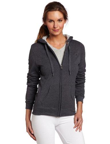 Fleece Lined Full Zip Jacket (Champion Women's Full-zip Eco Fleece Jacket Hoodie, Granite Heather,)