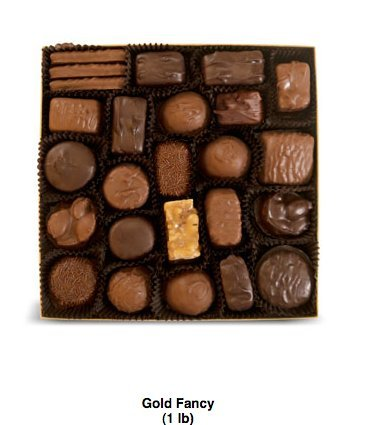 Amazon.com : See's Candies 1 lb. Gold Fancy Box : Chocolate ...