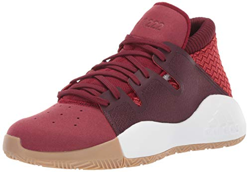 adidas Unisex Pro Vision, Collegiate Burgundy/Active red/Maroon, 4.5 M US Big Kid (Girls Youth Basketball Shoes)
