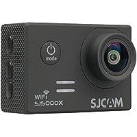 SJCAM SJ5000X Elite WiFi Sport Action Camera 1080P 12MP Sony IMX078 Sensor 4K 24FPS 2K 30FPS Gyro 2.0inch LCD 30M Underwater Black DV wtih Waterproof Case 2 Batteries