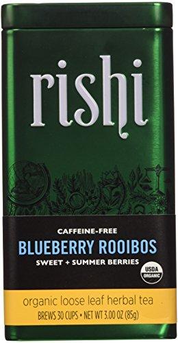 Colony Iced Tea (Rishi Tea Organic Loose Leaf Blueberry Rooibos Tea, 2.99 Ounce (Pack of 3))