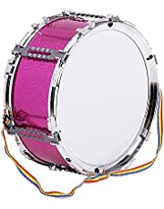 Colorful Jazz Snare Drum Percussion Instrument with Drum Sticks Strap Musical Toy for Children Kids (Color : Red)