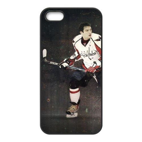 Hockey Nhl Alexander Ovechkin Washington Capitals coque iPhone 5 5S cellulaire cas coque de téléphone cas téléphone cellulaire noir couvercle EOKXLLNCD24412