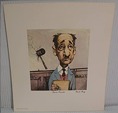 Art print Charles Bragg Signed Color Lithograph Objection Overruled Lawyer Court