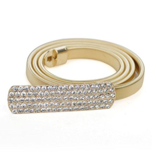 Rhinestone Buckle Fashion Belt (TopTie Rhinestone Buckle Spring Waist Belt -)
