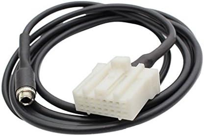 マツダ2 3 5 6 RX8 MX-5適用 電話MP3プレーヤー用 3.5mm AUXメスソケット 車3.5mm AUXインオーディオケーブル