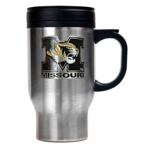 Missouri Tigers 16-Ounce Stainless Steel Travel Mug