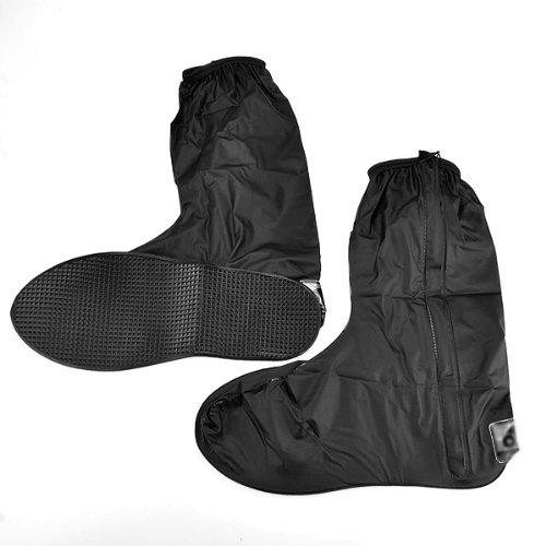 Nero impermeabile moto pioggia Gear Boot Scarpe, Ghetta Side Zip Uomo US 10