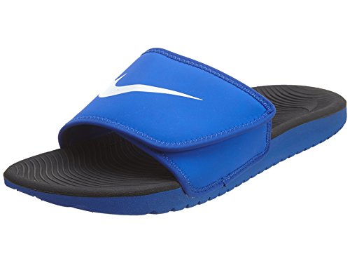 NIKE Kids' Kawa Slide Sandal, Racer Blue/White, 4 M US Big Kid ()