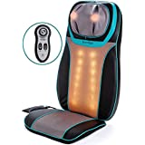 Shiatsu Back & Neck Seat Cushion Massager Chair - Massage Pad with Soothing Heat Function, Rolling, Kneading & Vibration - Full Back & Shoulder Deep Tissue to Relieve Muscle Pain - for Home & Office