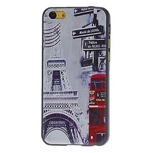 CL - Torre Eiffel y Caso duro del patrón Red Bus para iPhone 5C