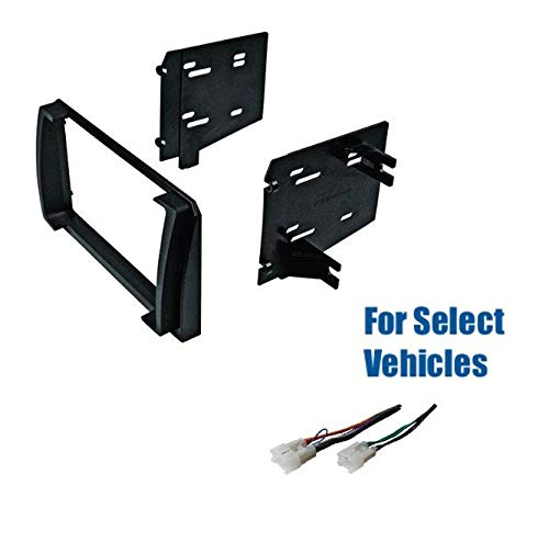 Premium Car Stereo Install Dash Kit and Wire Harness for Installing an Aftermarket Double Din Radio for Some 2009-2010 Toyota Matrix - No Nav/Premium Sound Vehicles