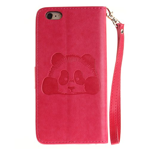 Meet de Red Panda gaufré pour Apple iphone 6 /iphone 6S Case, Folio pour Apple iphone 6 /iphone 6S PU Housse,Wallet / flip étui / Pouch / Case / Holster / Wallet / Case en cuir Wallet Style de couvert