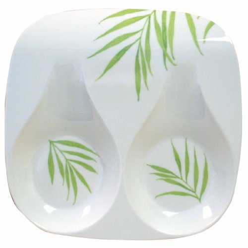 Corelle Coordinates Double Spoon Rest, Bamboo Leaf by Corelle Coordinates Corelle Coordinates Bamboo Leaf