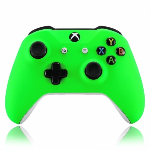 Neon Velvet - ModFreakz™ Front Shell Velvet Neon Green For Xbox One Model 1708 Controllers