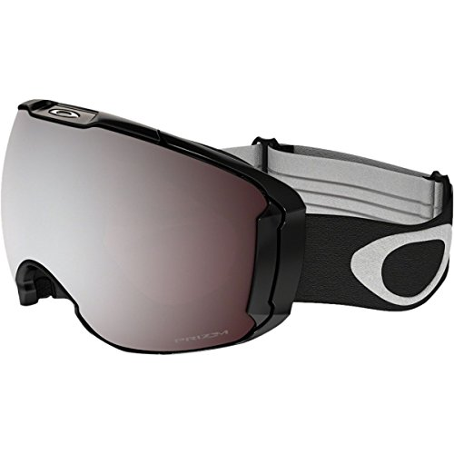 Oakley Men's Airbrake XL Snow Goggles, Jet Black, Prizm Black Iridium, - Oakley Ski Uk Goggles