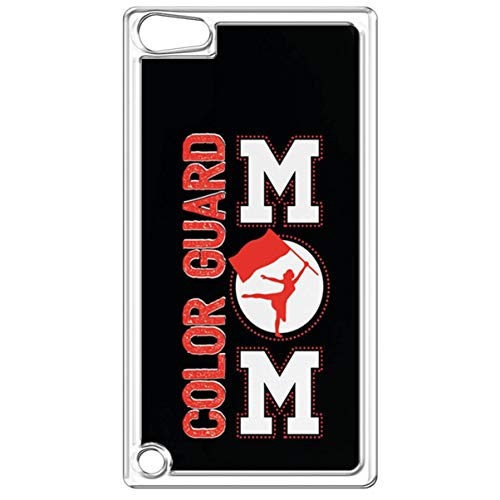 iPod Touch 6th Case,iPod Touch 5th Transparent Case,Marching Flag Mom iPod Touch 6th Hard Back Case Marching Band Flag Mom Ultra Slim TPU Gel Case for iPod Touch 6th/5th