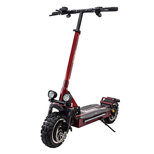 QIEWA QPOWER Duble Motors Off Road Scooter 3200Watts Duble Motor with 11-inch Off-Road Tires Max...