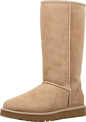 UGG Women's Classic Tall II Winter Boot, Sand, 8 B US