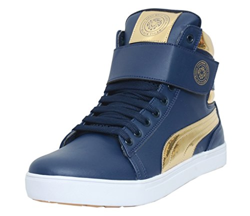 Black Tiger Men's Synthetic Leather Casual Shoes 8000-G-Blue